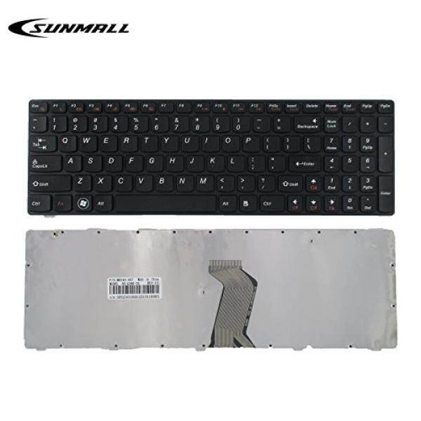 SUNMAL Keyboard Replacement with FRAME for Lenovo Ideapad G580 G580A G585 G585A V580 V585 Z580 Z580A Z585 Z585A N580 N581 N585 N586 Series Laptop Black US Layout (6 Months Warranty) - intl