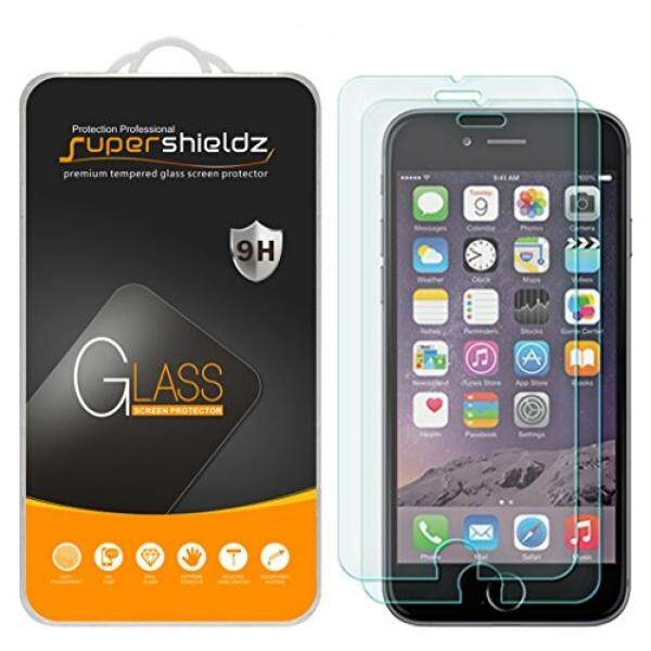 [2-Bungkus] Supershieldz untuk iPhone 6 S Plus/Iphone 6 Plus Kaca Melunakkan Layar Pelindung, [3D Sentuh Cocok] Anti-Menggaruk, Anti-Sidik Jari, Gelembung Bebas, garansi Penggantian Seumur Hidup-Internasional