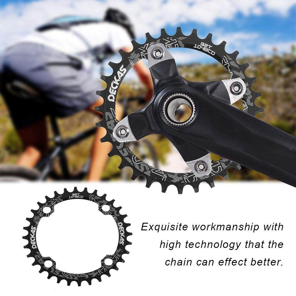 OH DECKAS Narrow Wide Bike MTB Round Oval Chainring Chain Ring Single Plate oval 32T - intl