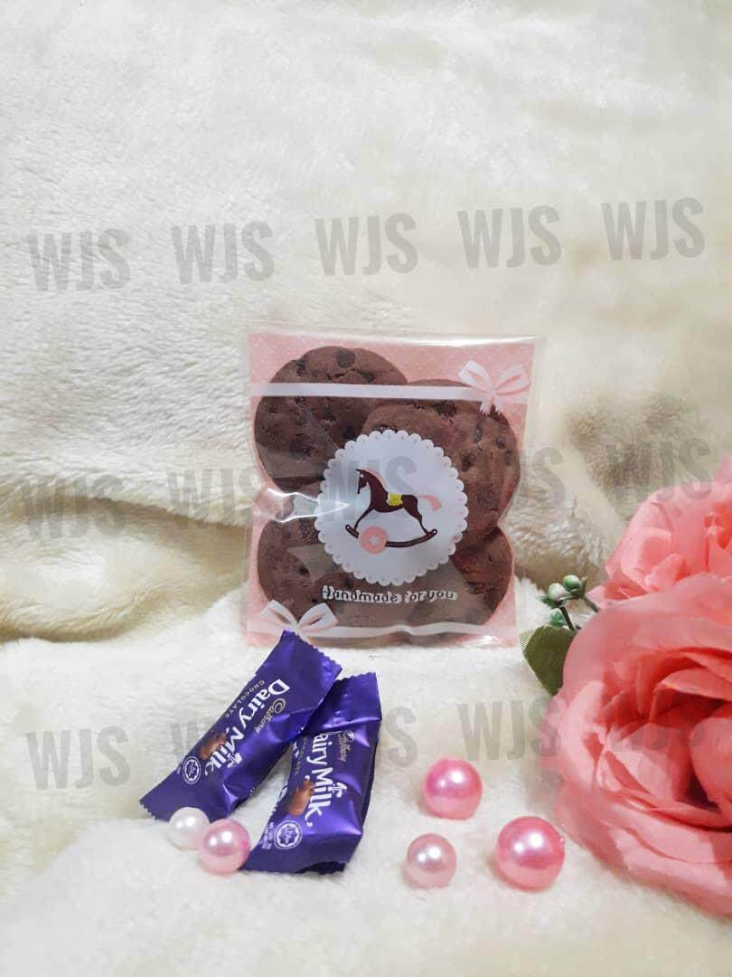 (MULTIPLE SIZES) WJS 100pcs 100 pcs Cute Pink Trojan Horse Kuih Raya Wrapper
