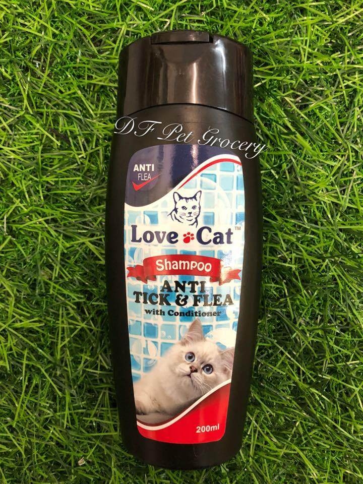 Love cat Shampoo Anti Tick & Flea With Conditioner 200ml - Cat Shampoo