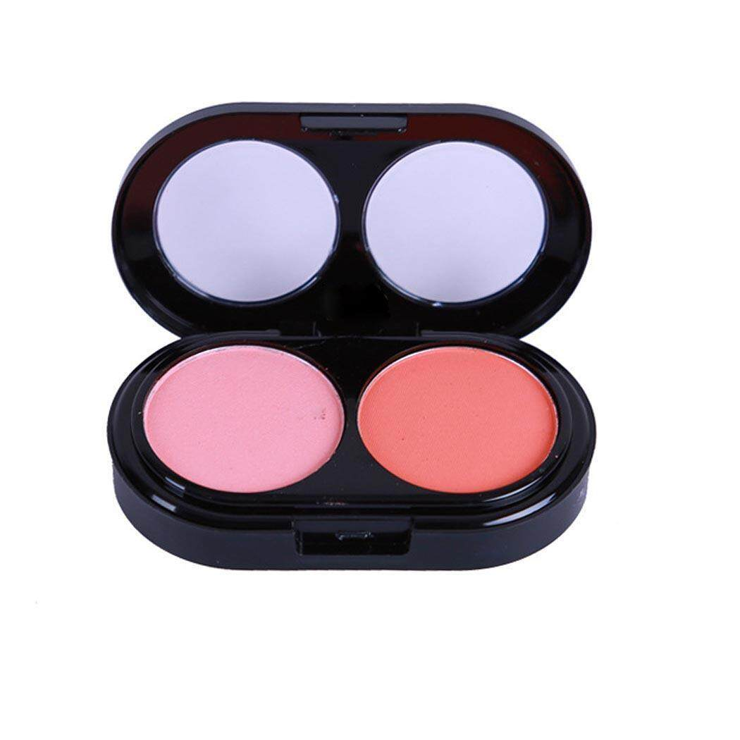 AZONE 2 Colors Face Pressed Powder Blush Blusher Soft Natural Cheek Makeup Cosmetics with Brush - intl Philippines