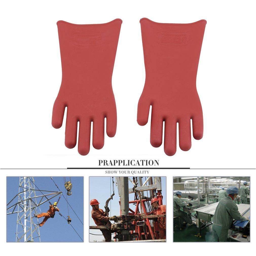 Yika Insulated 12kv High Voltage Electrical Insulating Gloves For Electricians