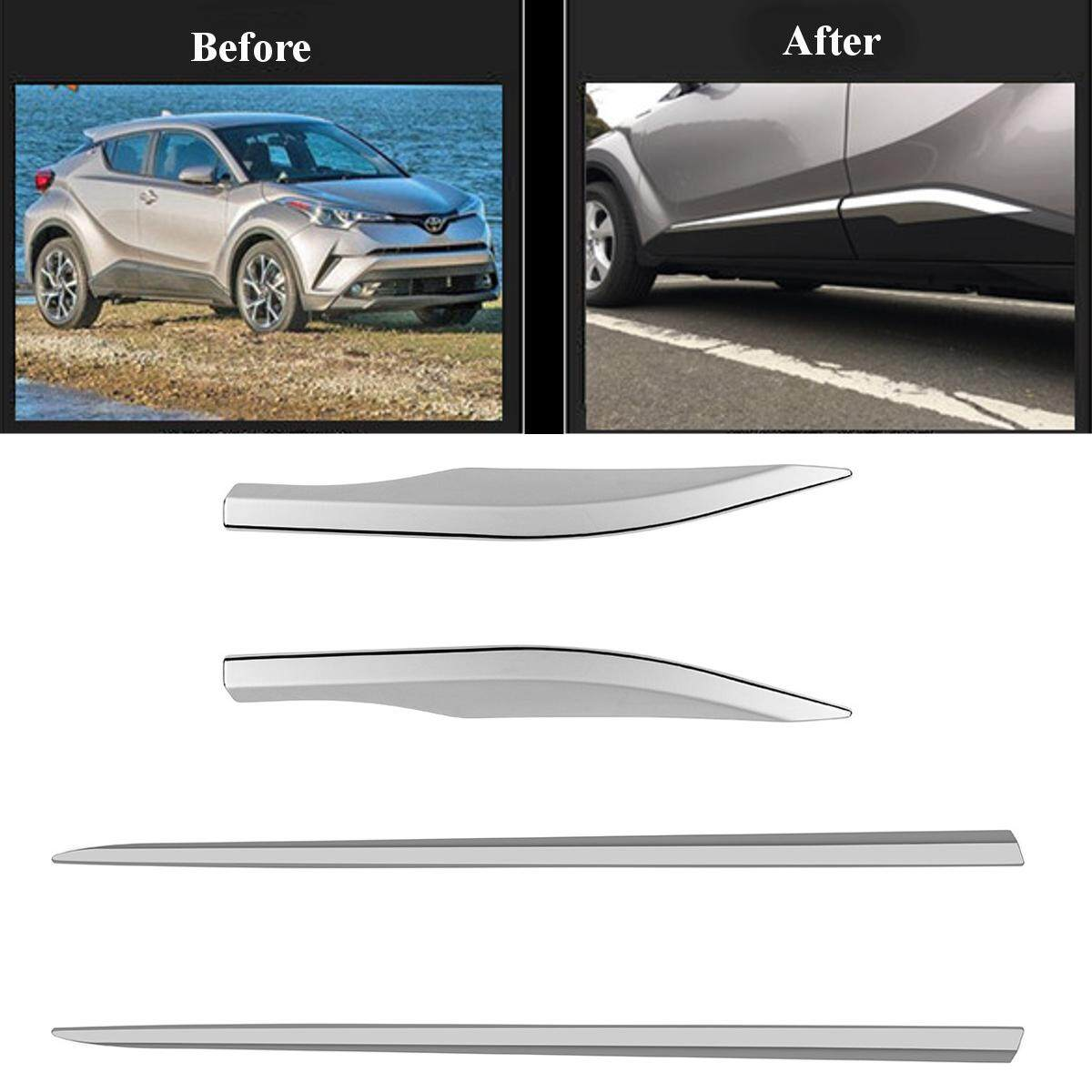 For Toyota C Hr Chr 2016 2017 Car Side Door Body Trim Abs Chrome Accessories 4P Intl Compare Prices
