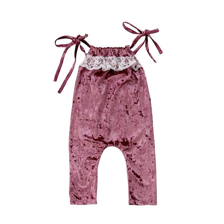 Detail Gambar Kasual Anak Bayi Perempuan Renda Musim Panas Romper Jumpsuit Pakaian-Internasional Terbaru