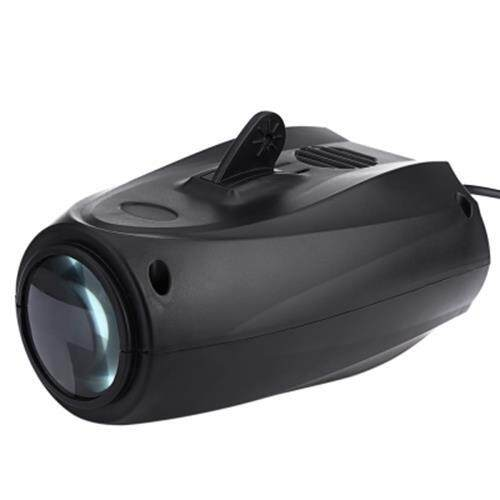 AC 90 - 240V 10W 64 LEDS RGBW PATTERN STAGE LIGHT AUTO VOICE-ACTIVATED PROJECTOR LIGHTING (BLACK)