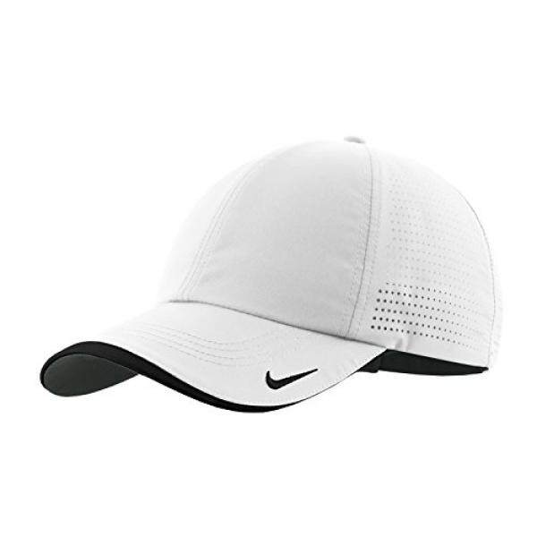 edfc8df4940 ... cheapest nike authentic dri fit low profile swoosh embroidered  perforated baseball cap white d3cd1 9d0d3