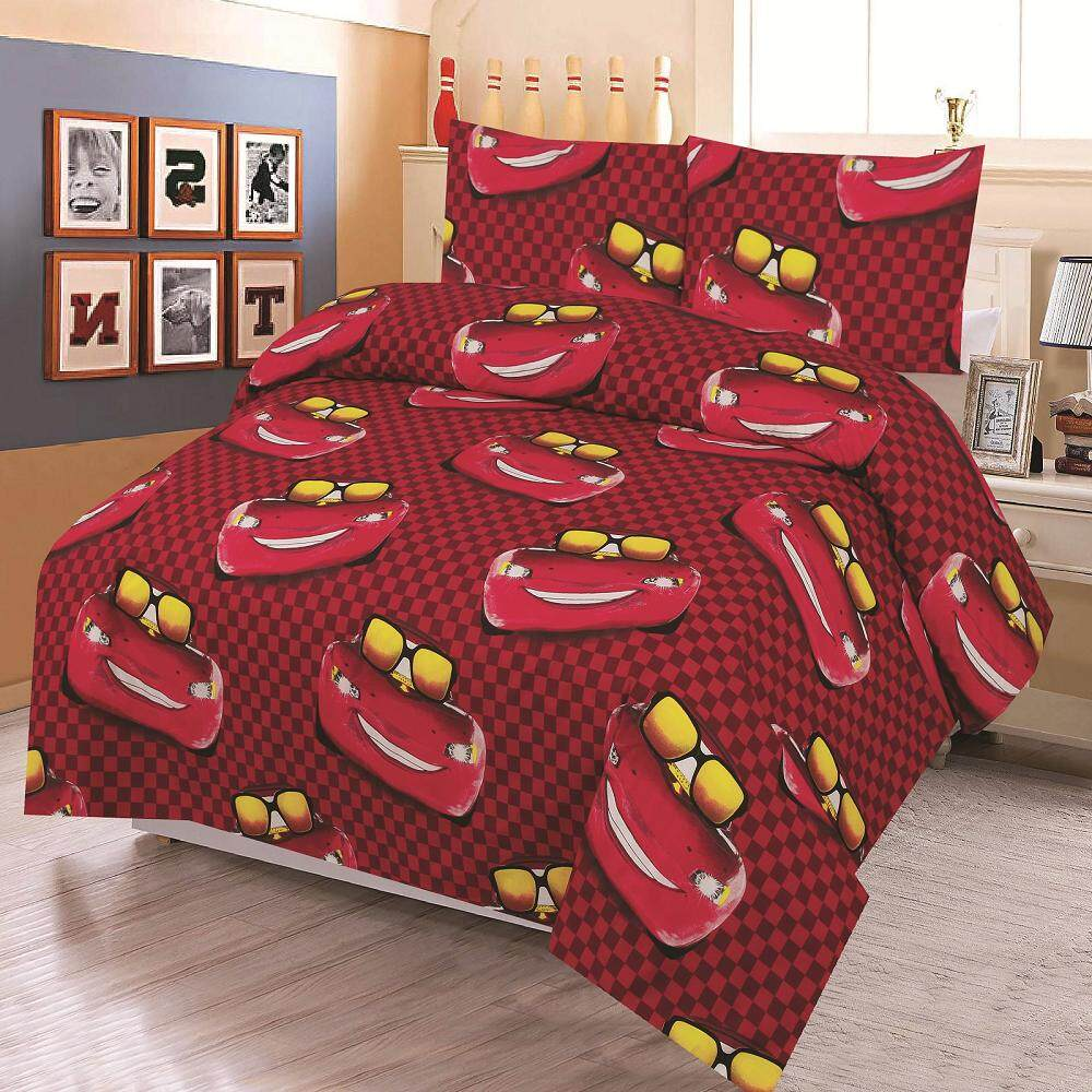 BED CLUB: Single Fitted Sheet Set - 100% Cotton Rich: 330 TC:- (Basic-831)