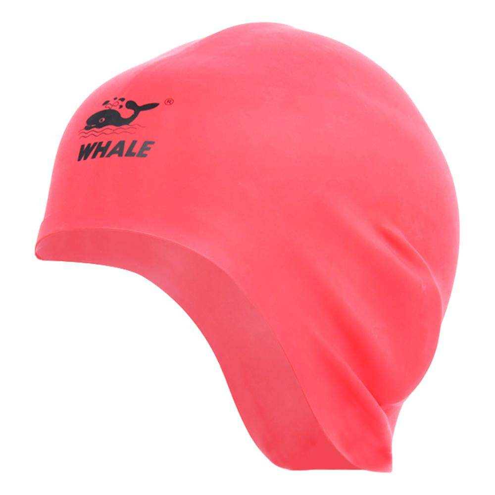 b71e3857f930 Free Size Unisex Particles Swimming Cap Hat Waterproof Hair Care Protect  Ears Silicone Swim Cap -