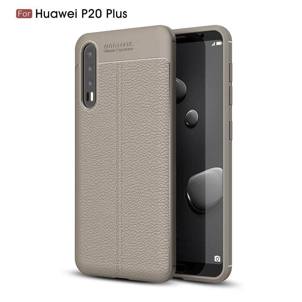 For Huawei P20 Pro Litchi Grain Shock Absorbing Anti-slip Ultra Slim Bumper Back Case