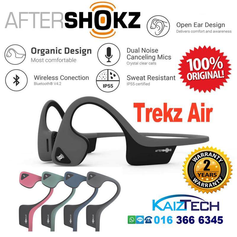 Original AfterShokz Trekz Air Bone Conduction (Open-Ear Bluetooth) Headphone - Green