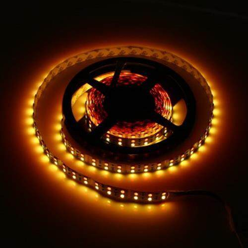 5M DOUBLE ROW 5050 SMD 600 RGB WHITE LED STRIP LIGHT FOR DECORATION (WARM WHITE LIGHT)