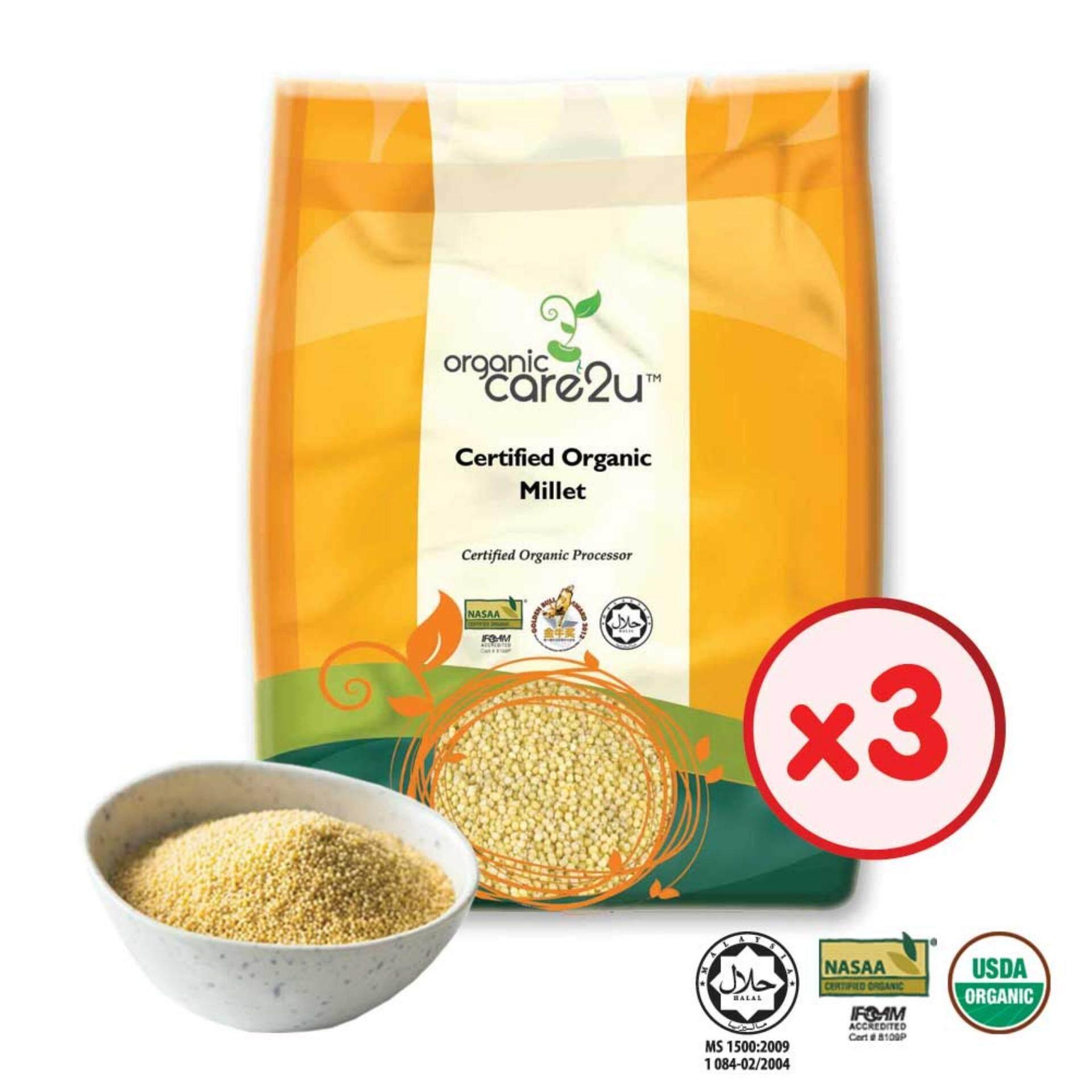 Organic Care2u Organic Millet  (400g) - [Bundle of 3]