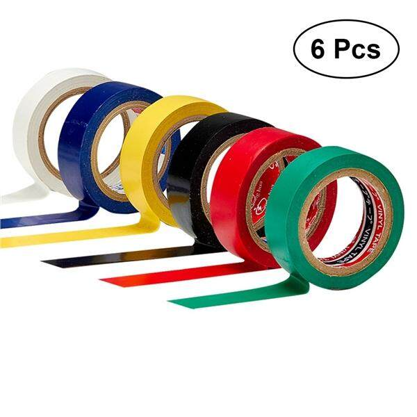 Mua 6 PCS 10M PVC Flame Retardant Adhesive Waterproof Electrical Tape Electrical Insulation Tape for DIY Industrial Home Use (6 Assorted Colors)