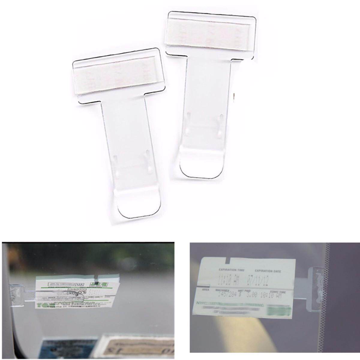 2pcs Car Vehicle Parking Ticket Permit Holder Clip Sticker Windscreen Window Usa By Moonbeam.