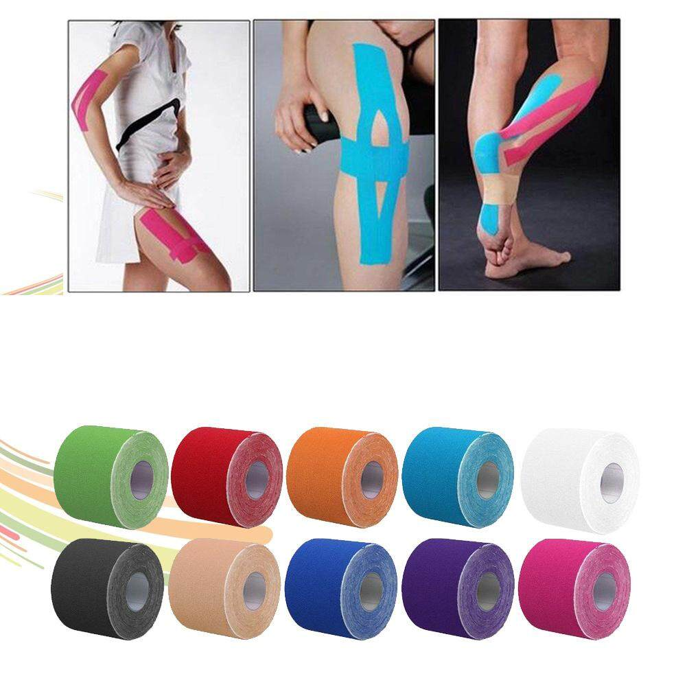 Kinesiology Therapeutic Tap Self Adherent Cohesive Cotton Bandage Sport Injury Muscle Protect Bandage