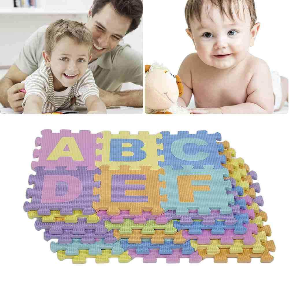 Deyln The New Excellent Quality 36pcs Soft EVA Foam Baby Children Kids Play Mat Alphabet Number