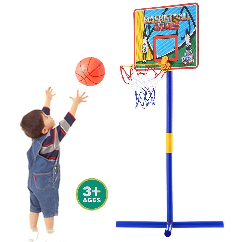 Hình ảnh Best Seller Astar New Creative Portable Indoor Outdoor Adjustable Basketball Hoop System Stand Kids Sports Set - intl