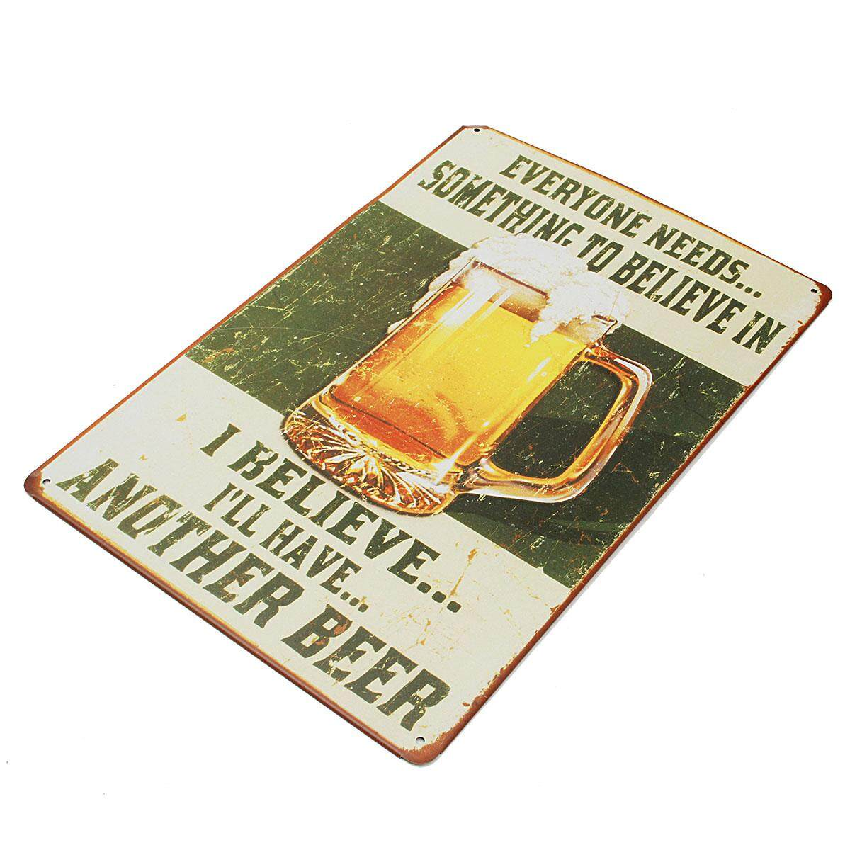 Cool Beer Poster Metal Plate Rusted Tin Sign Man Cave Home Pub Bar Wall Decor By Moonbeam.