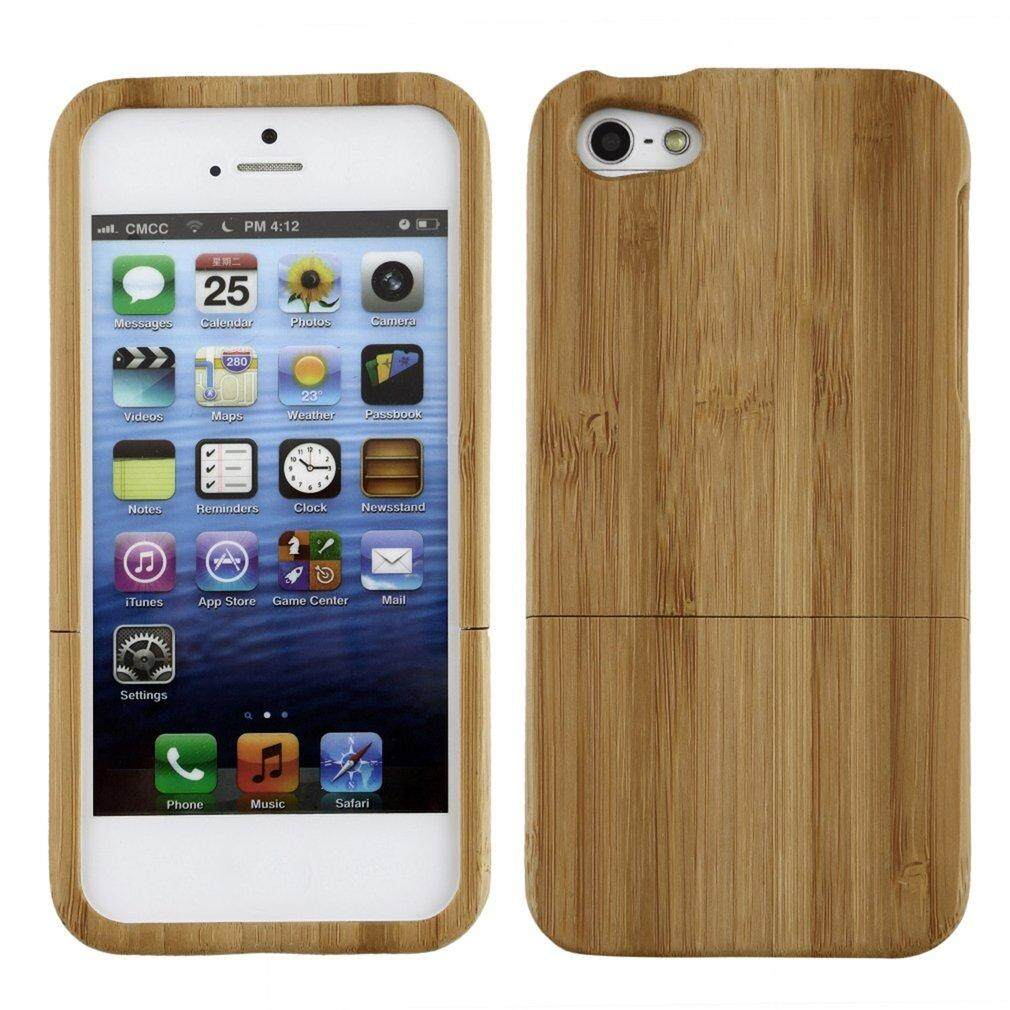 Era Natural Bamboo Wood Hard Back Case Cover Protector For Apple Iphone 5 5S Intl ถูก