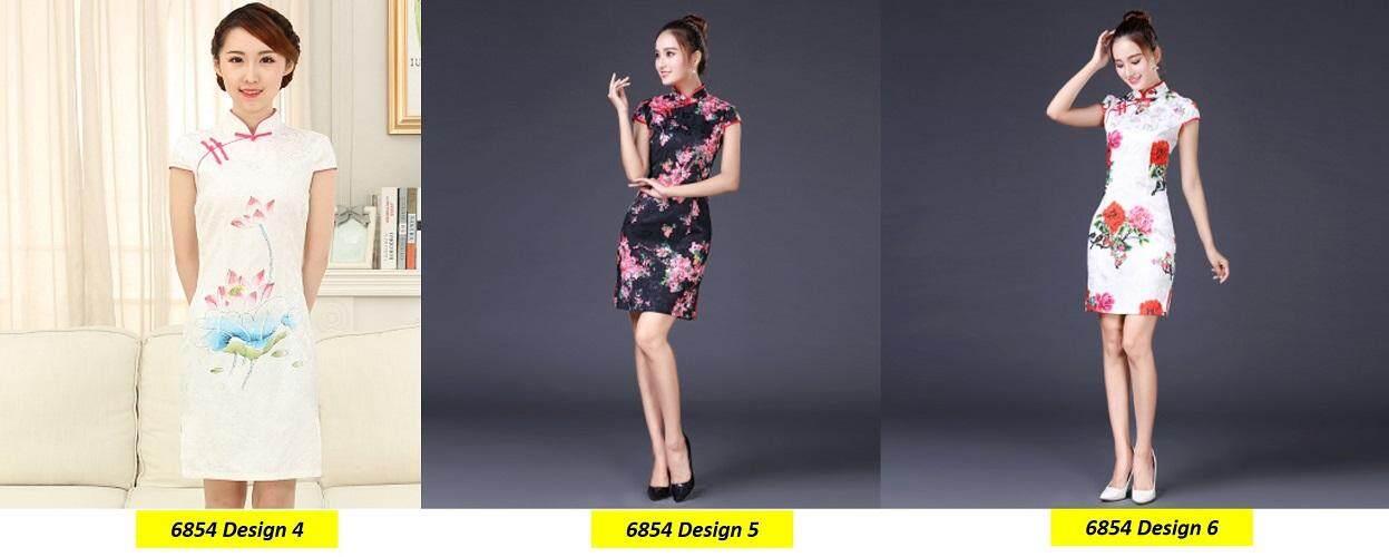(Pre Order 14 DAYS)  JYS Fashion Women Cheongsam Collection 249-6854 Design 4 (White) S