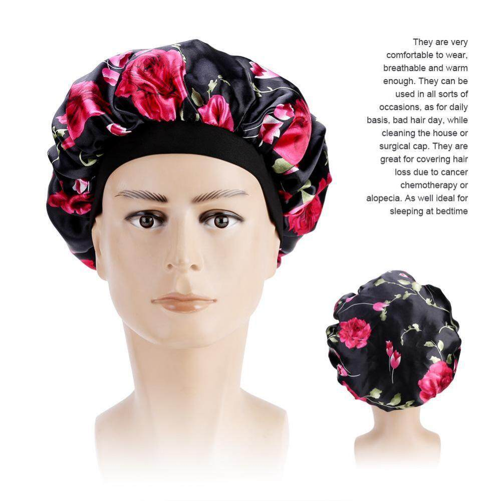 9203e2eacf0 Womens Hair Loss Head Scarf Cancer Hat Chemo Cap Turban Head Wrap Cover  Satin Sleeping Cap