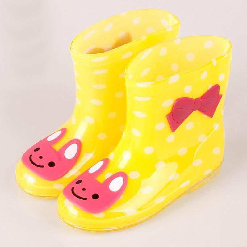 Panda Online Anak Laki-laki Perempuan Hujan Bot Kartun Non-slip Sepatu Empat Seasons Bayi Hujan Boot
