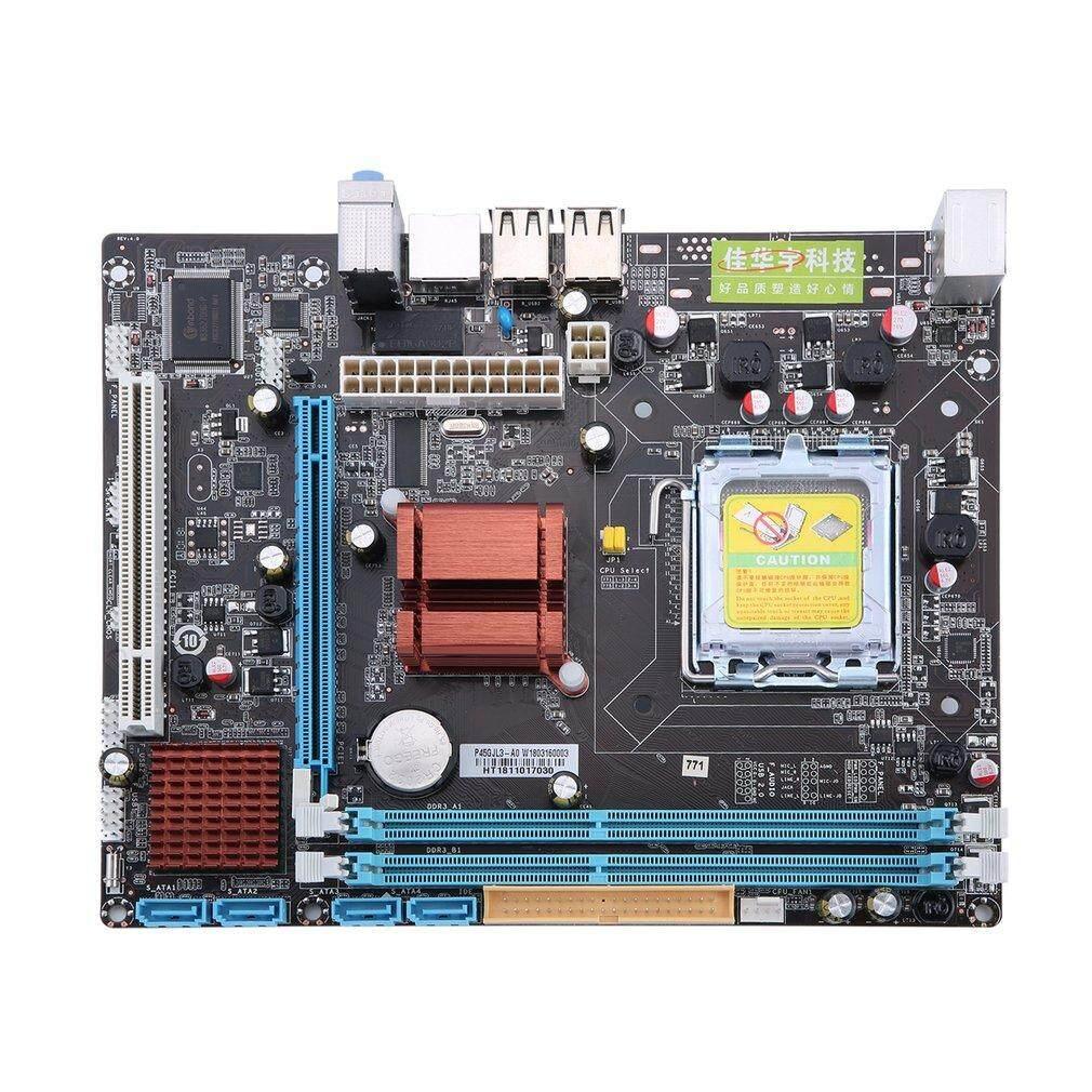 P45 Komputer Mainboard Motherboard 771 775 ganda papan DDR3 dukungan L5420