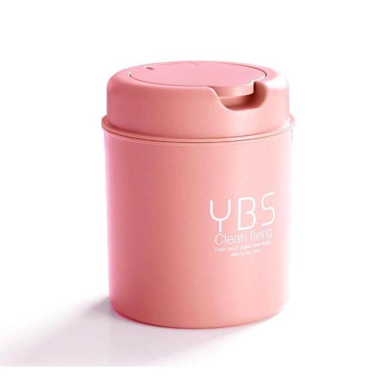 eisida Mini Desktop Trash Can with Flip Lid Desk Bathroom Wastebasket Trash Clean Debris Storage Singapore