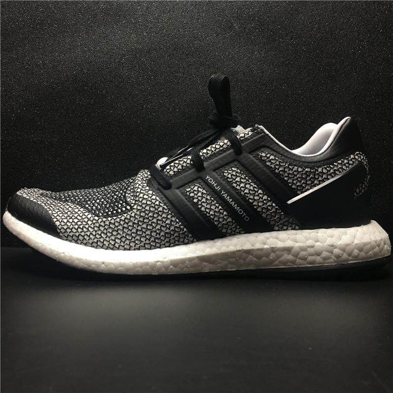 "Men's Adidas Y3 Primeknit Pure Boost ""Triple White"" GD Running Shoe Trainer - intl"