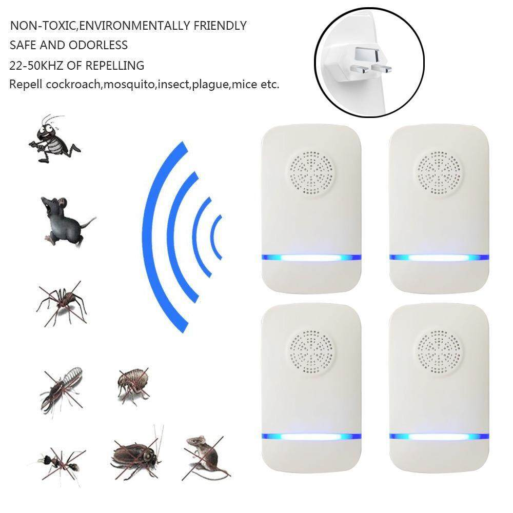 Teepao [2018 Upgraded] 4pack Ultrasonic Pest Repeller, Electronic Pest Control Repellent Plug In For Repel Mice, Rats, Roaches, Ants, Bugs, Rodents, Bed Bugs Killer-None Toxic To Pet Nor Human(ukplug) - Intl By Teepao.
