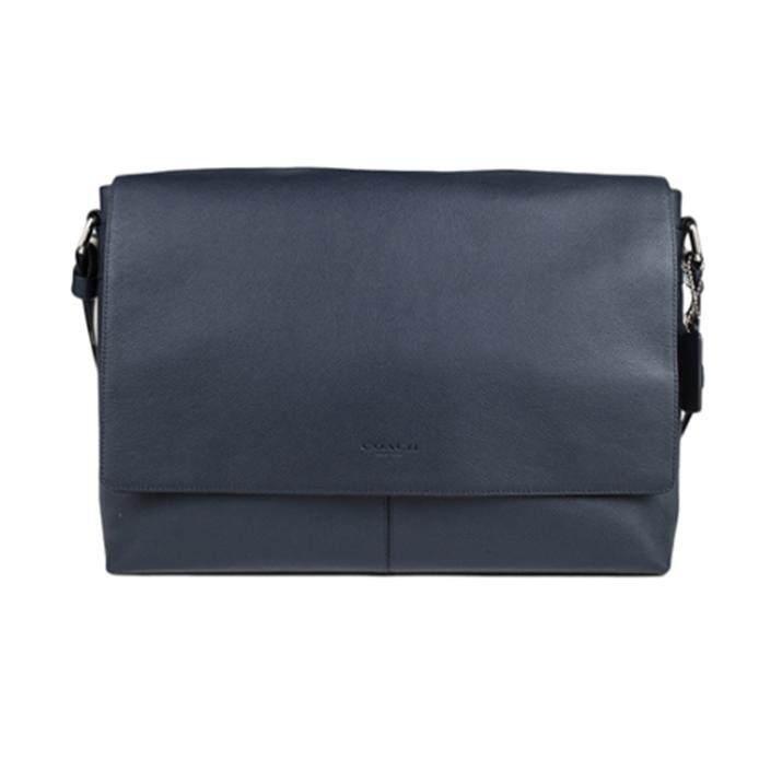 Coach Luxury Men Embossed Crossbody Bag Leather