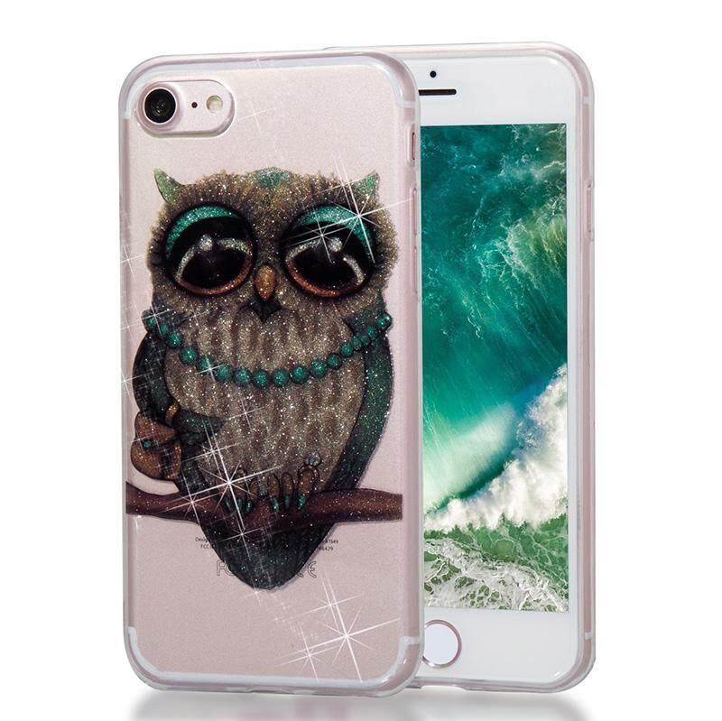 Case untuk IPHONE 7/iPhone 8 Mengkilap Bling Jelas Lembut Kartun Lucu Desain Pola TPU