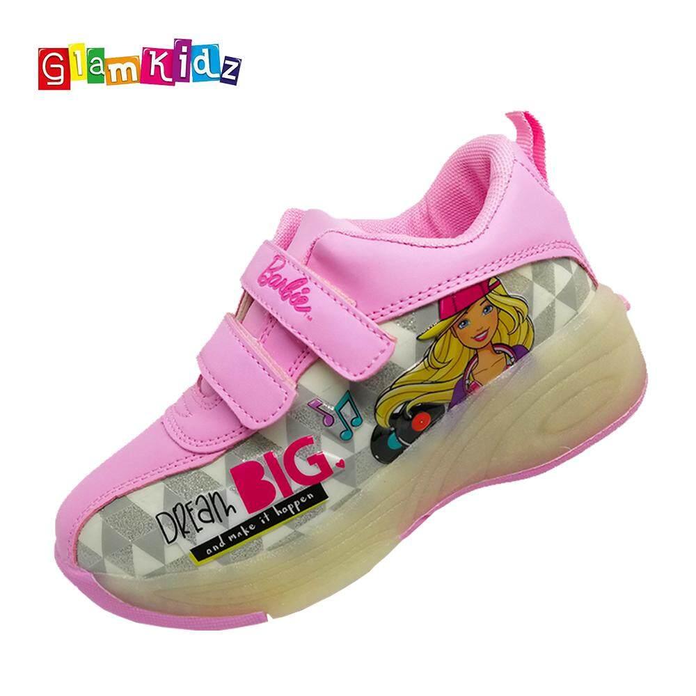 Glamkidz Barbie Children Shoes for Kids Roller Skate Sports Shoes Sneakers with LED for Girls (White) #7252 Kasut Budak Perempuan Kasut Kanak Kanak Perempuan Shoes for Children Shoes for Kids Girl Kids Shoes Girl