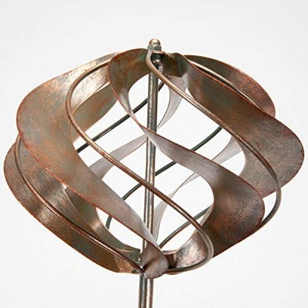 Sedikit dan Buah-Mini Orb Angin Spinner Taman Stake-Kecil Patung Angin untuk Taman Anda, rumput atau Teras-Whirligig Terbuat dari Besi Tahan Lama-Kinetic Angin Mill-Internasional