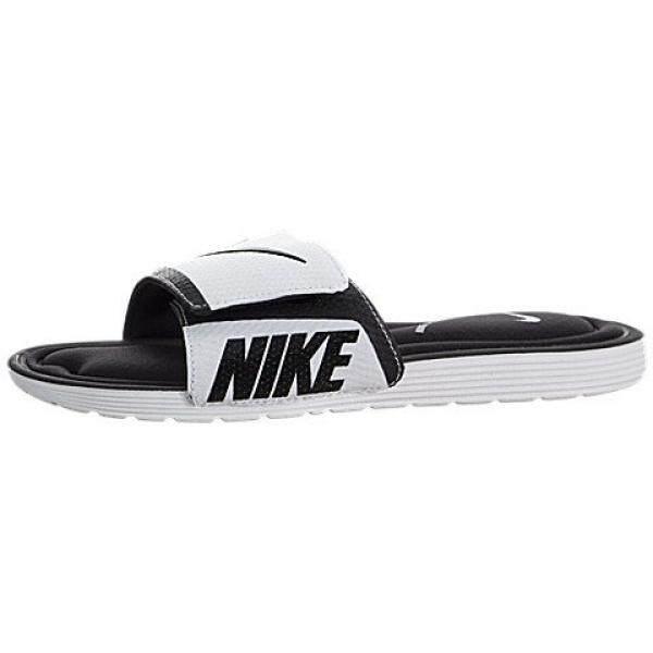 254b5eaea66e ... switzerland nike mens solarsoft comfort slide sandal black white 14 d  us c2190 e8928