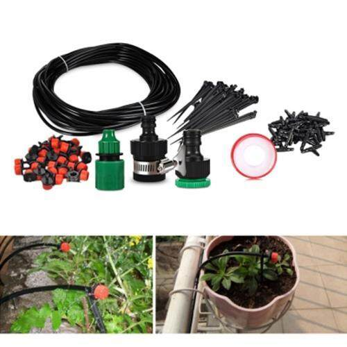 25M DIY MICRO SPRAY DRIP IRRIGATION SYSTEM WITH WATER DROPPER (BLACK)