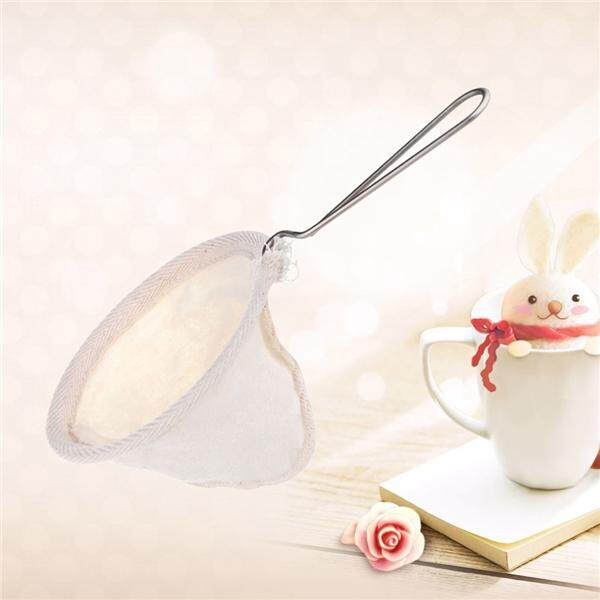 Resuable Cloth Strainer Coffee Filter With Stainless Steel Handle For Coffee Tea By Pickegg.