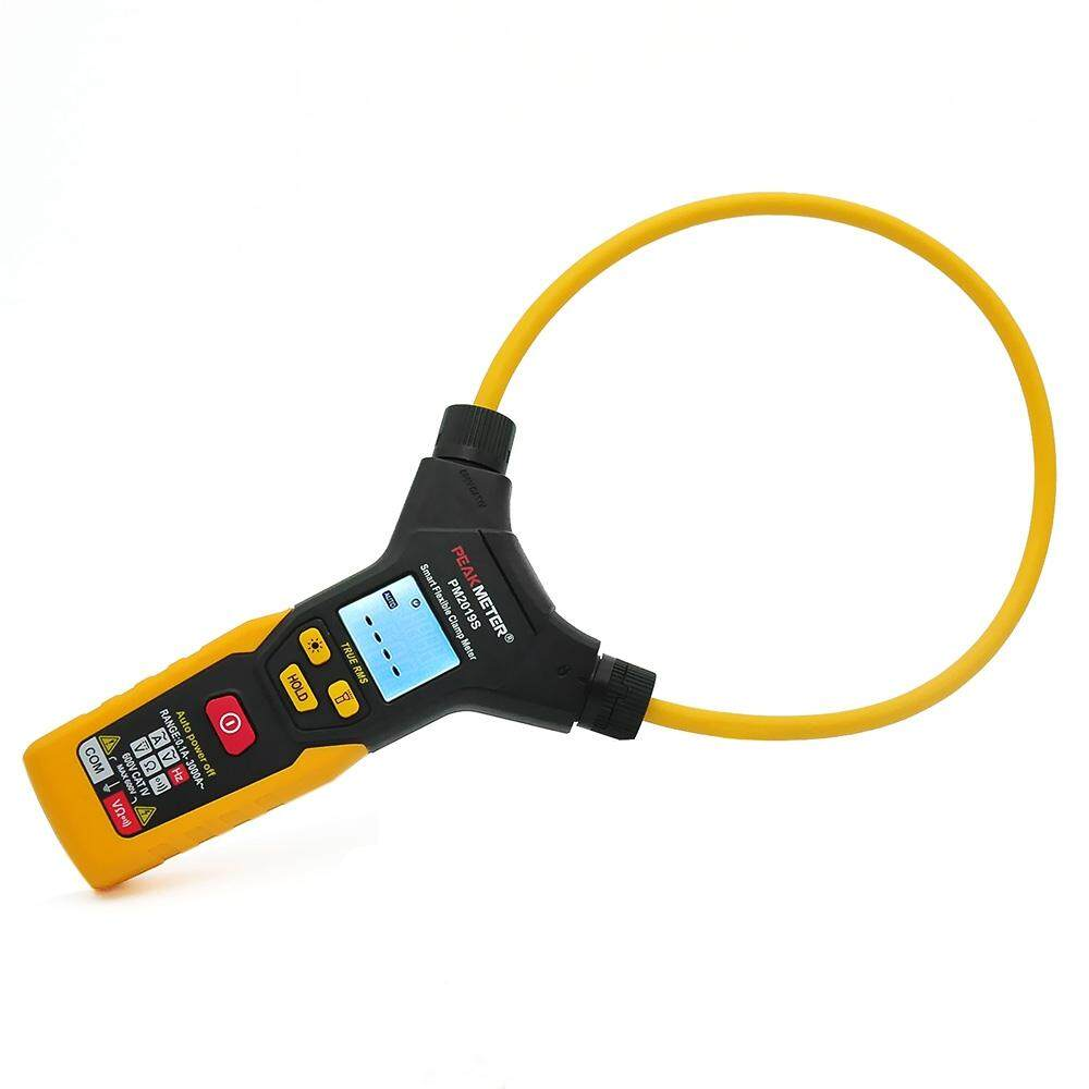 PM2019S HANDHELD DIGITAL LCD FLEXIBLE CLAMP METER MULTIMETER AC CURRENT RESISTANCE FREQUENCY