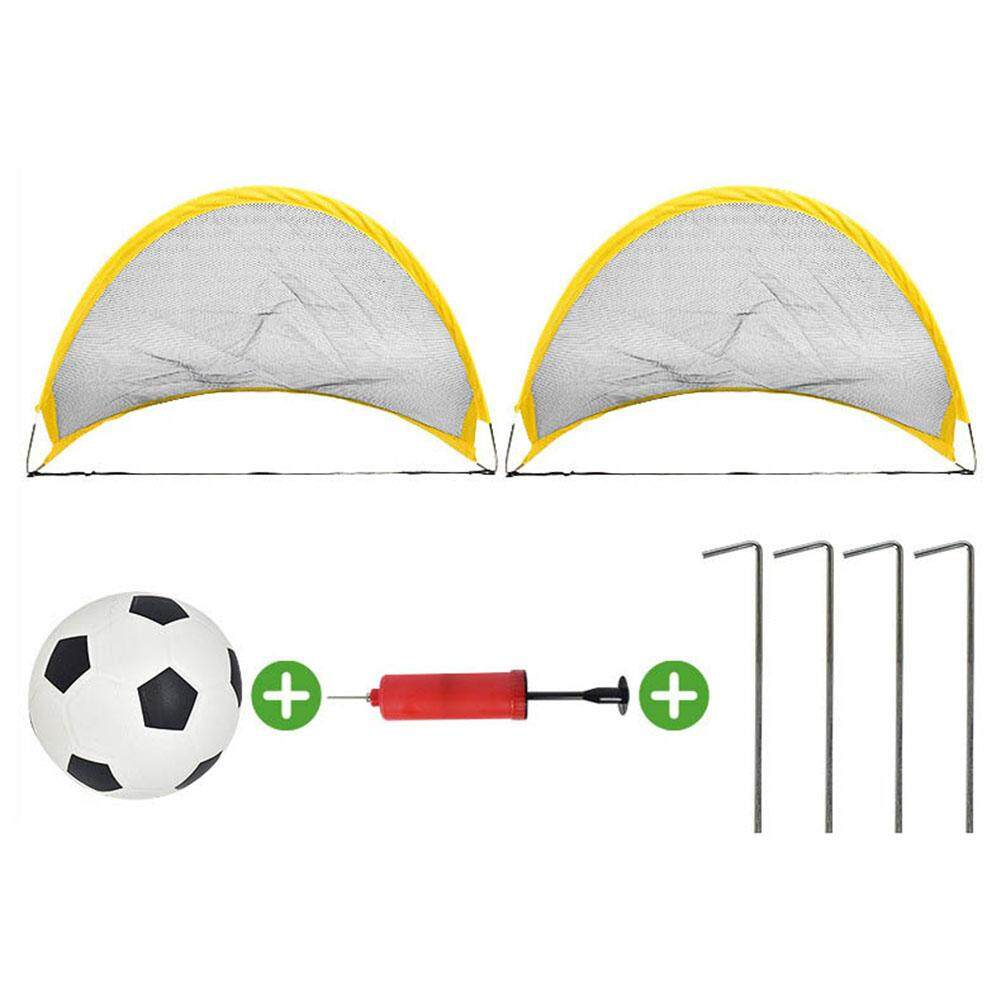 Veecome 68cm Outdoor Soccer Training Portable Folding Net Goal + Footbal + Accessory For Kids By Veecome.