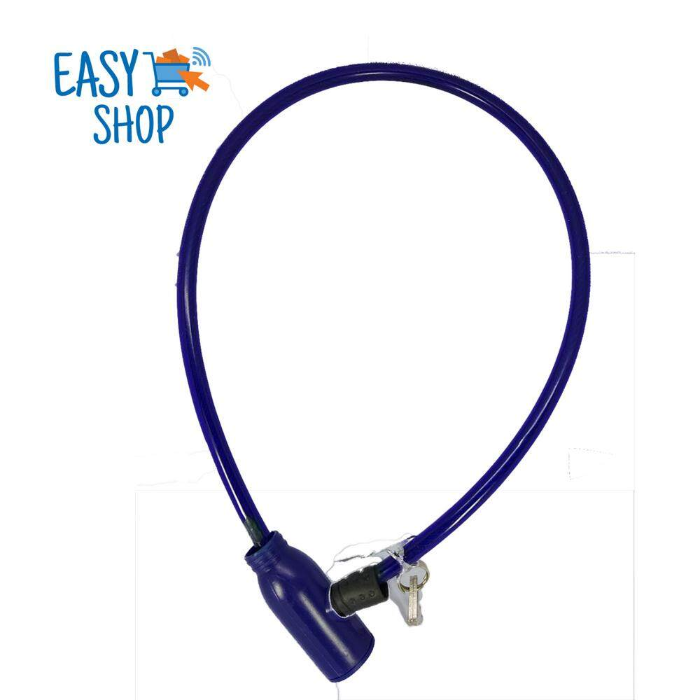 65cm Bicycle Bike Cycle Motorbike Heavy Duty Coil Security Lock Steel Cable Chain Key