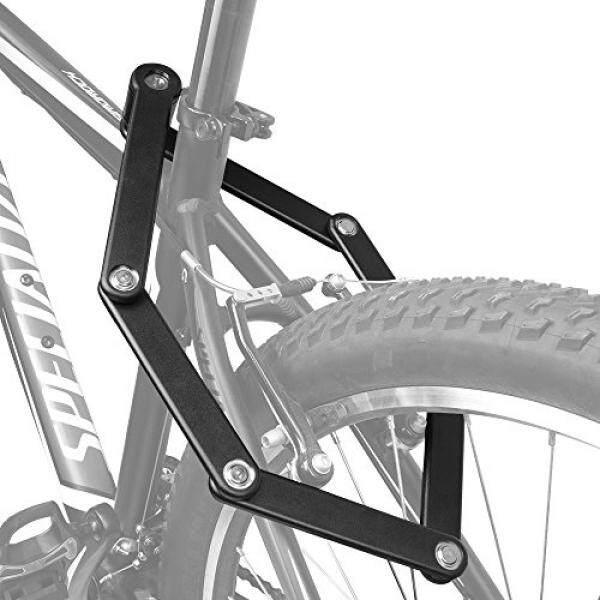 TRELOCK Sepeda Lipat Mengunci, Berat Tugas Baja 34 Inch Bar dengan Dua Kunci dan Penyimpanan Mounting Braket-Internasional