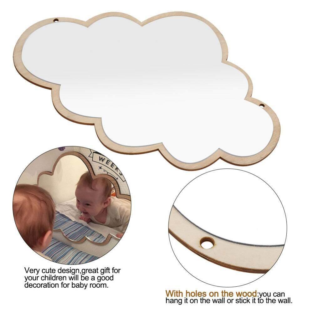 Nordic Acrylic Decorative Mirror Wall Sticker Decal Children Kids Room Art Home Decor #Cloud - intl