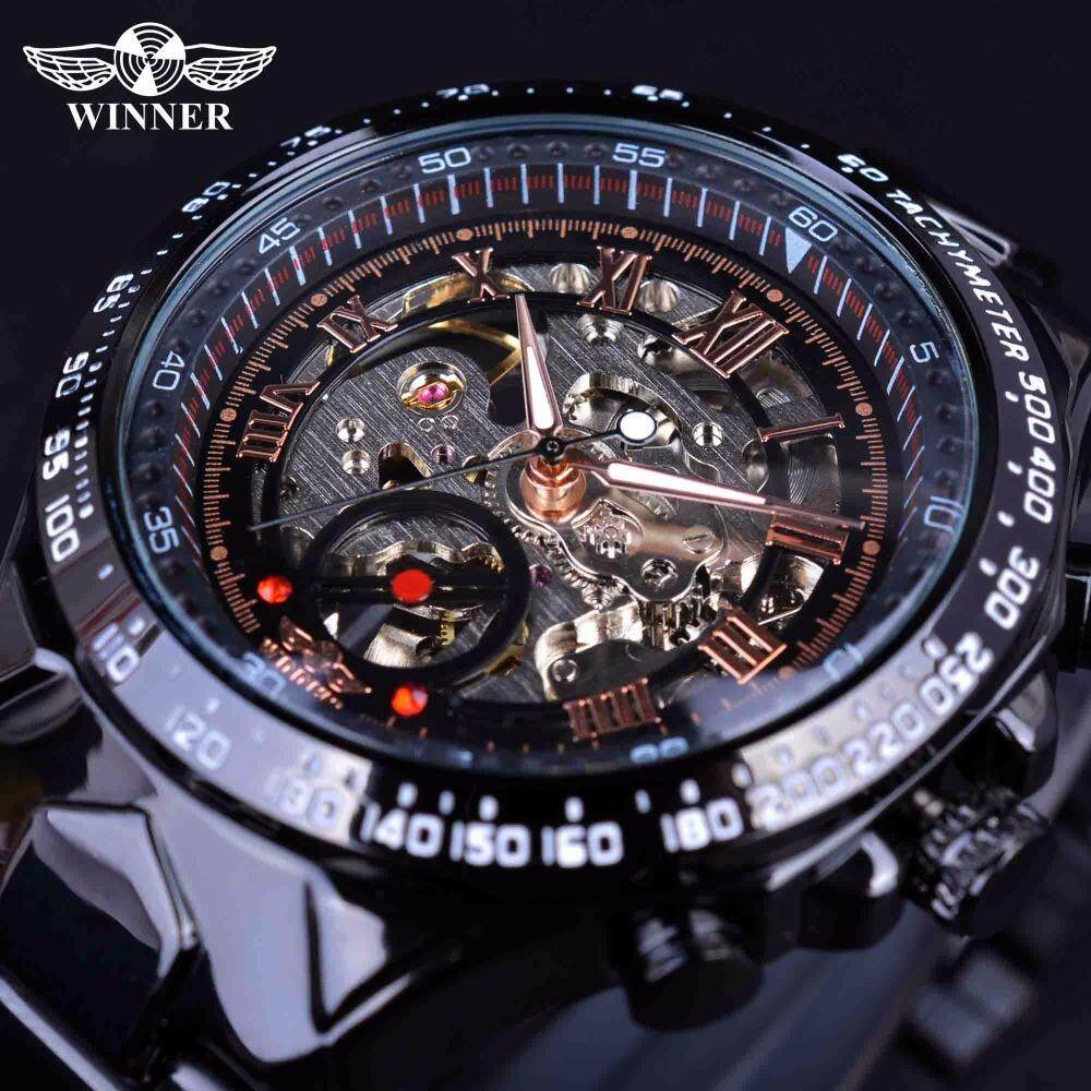 WINNER Mens Sports Racing Design Stainless steel case Automatic Watch Malaysia