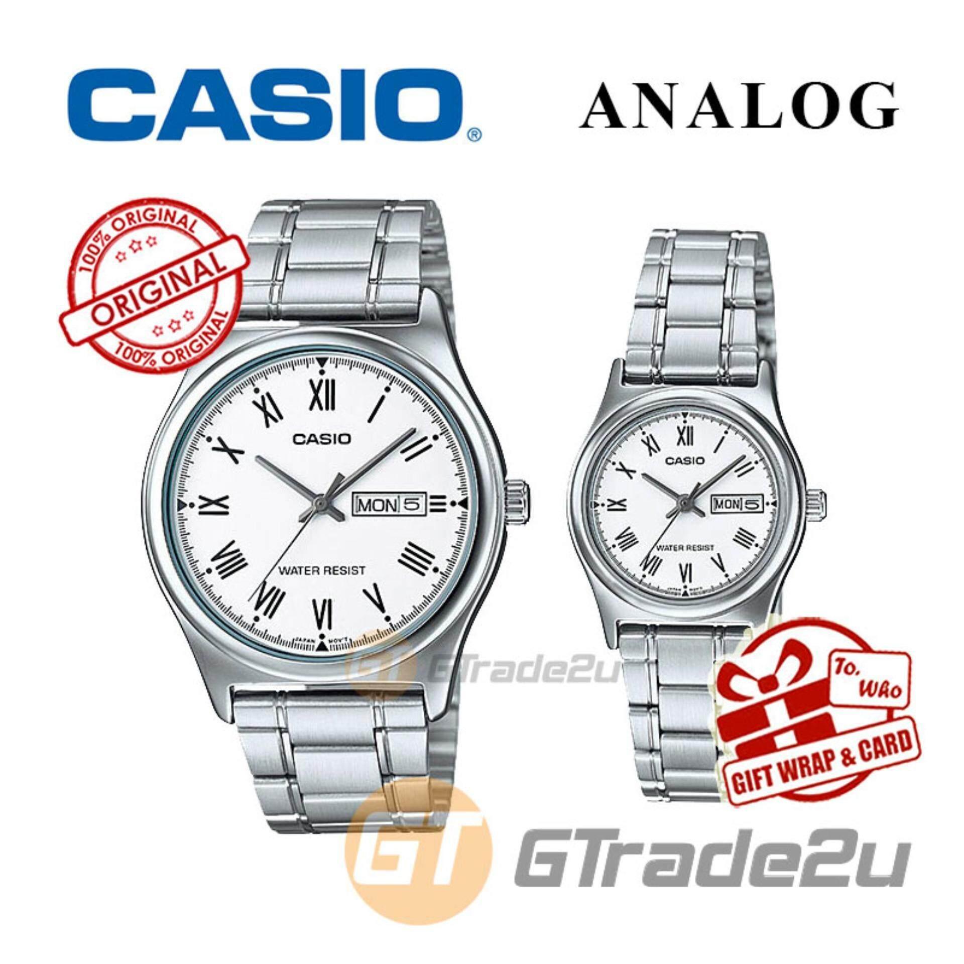 Fitur Casio Standard Mtp V006d 7b Jam Tangan Pria Silver White Strap V004d 1b Stainless Steel 7bv Ltp Analog Couple Watch