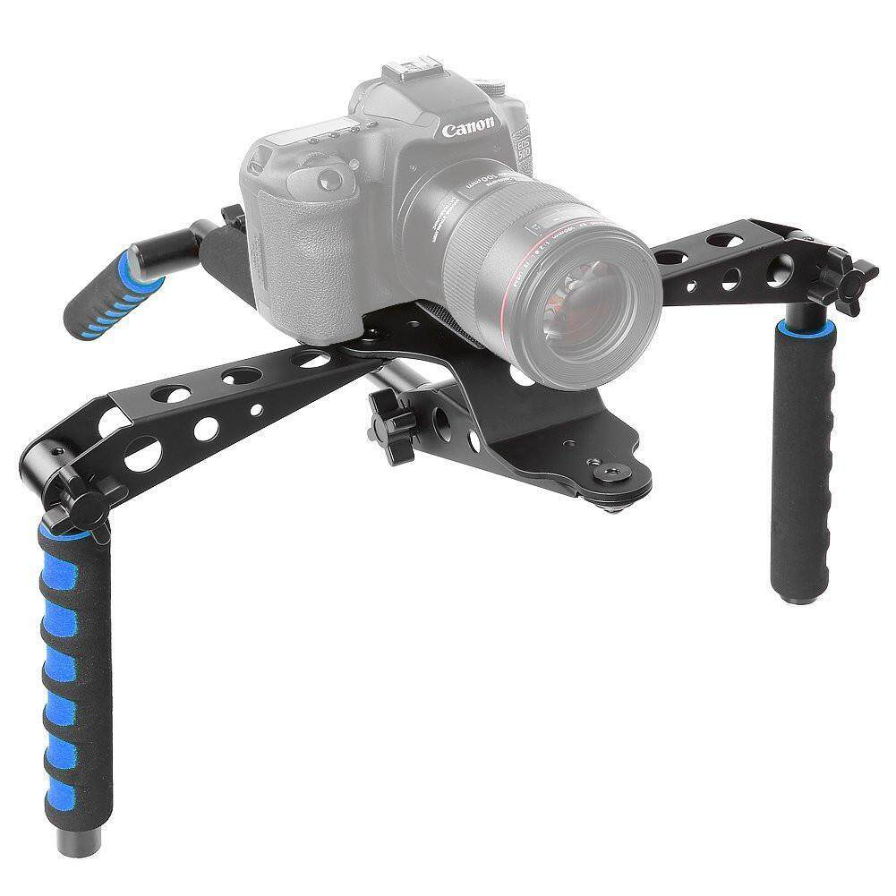 Womdee Aluminium Paduan Lipat Rig Film Perlengkapan Sistem Pembuatan Film Dudukan Penyangga Rig Penstabil untuk Kamera DSLR dan Kamera Perekam seperti Canon, nikon D7100/D7200, Sony A7/A7R/A7S/A7II-Internasional