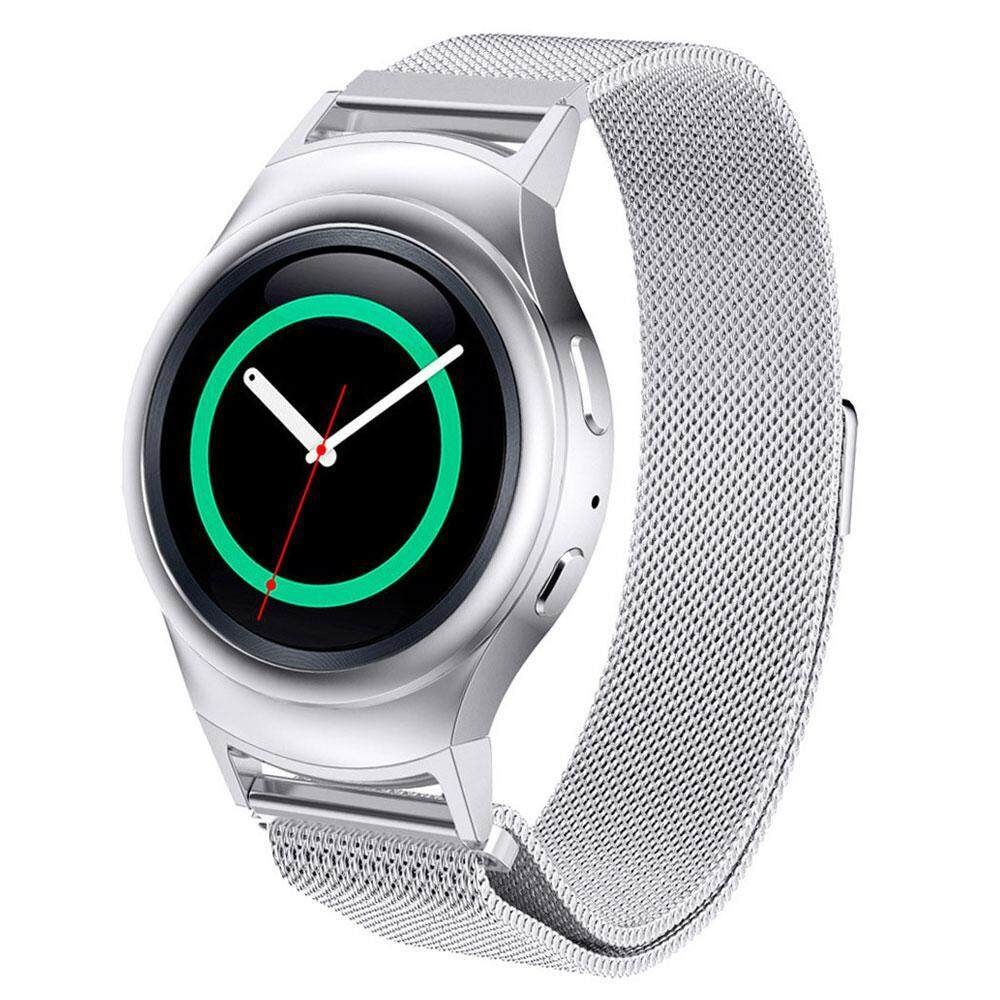 weizhe For Samsung Gear S2 Watch Band, Milanese Magnetic Closure Loop Stainless Steel Metal Replacement