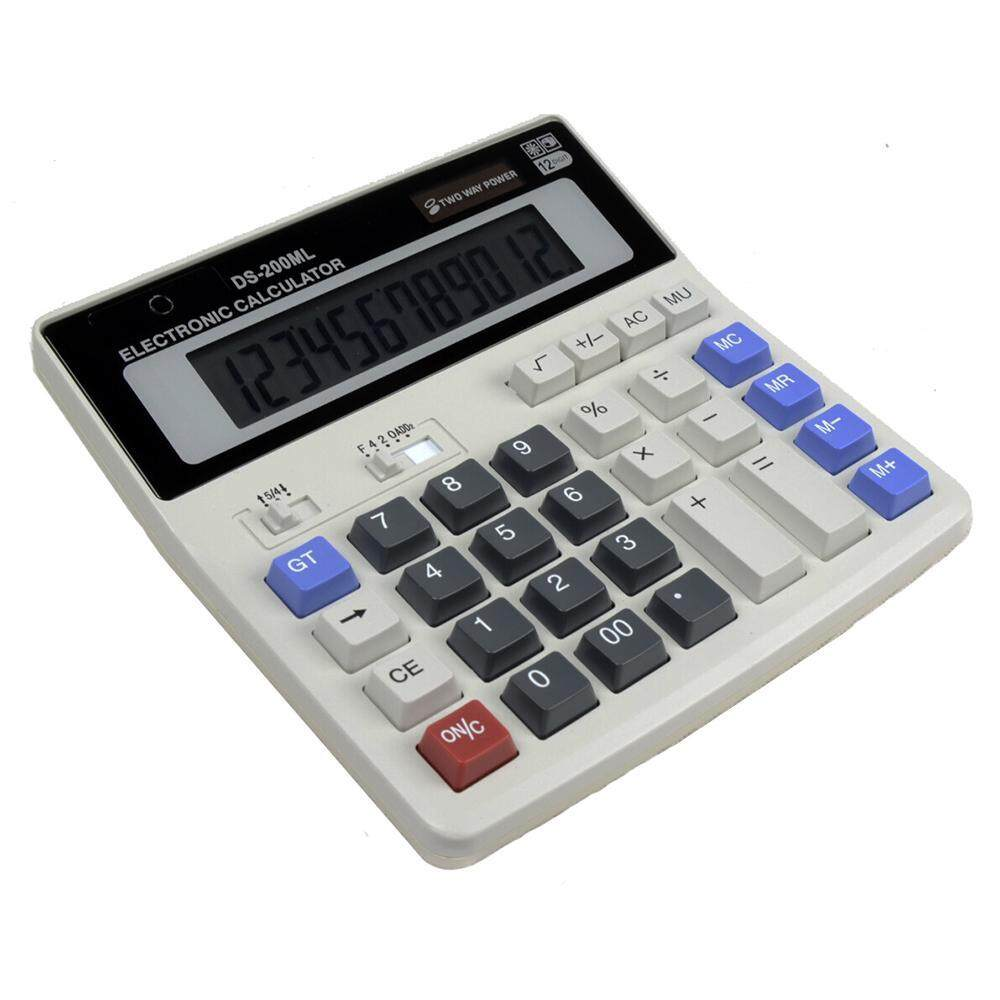 Niceeshop Desktop Office 12 Digit Display Standard Function Scientific Electronic Calculator,calculating Machine For Solar And Battery Powered,applicable To Student Business Financial Accounting By Nicee Shop.