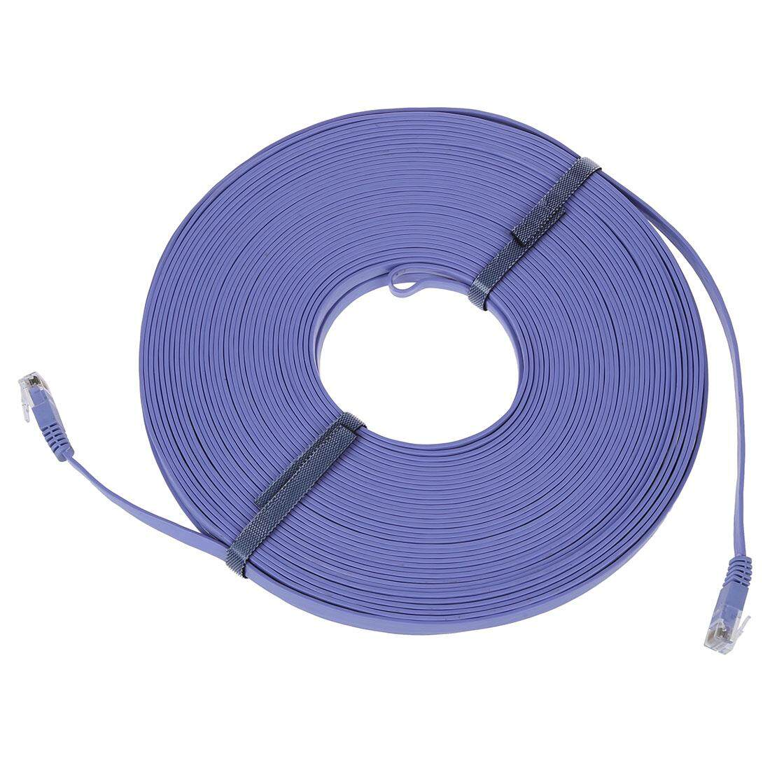 98FT 30M CAT6 CAT 6 Flat UTP Ethernet Network Cable RJ45 Patch LAN Cord Blue - intl