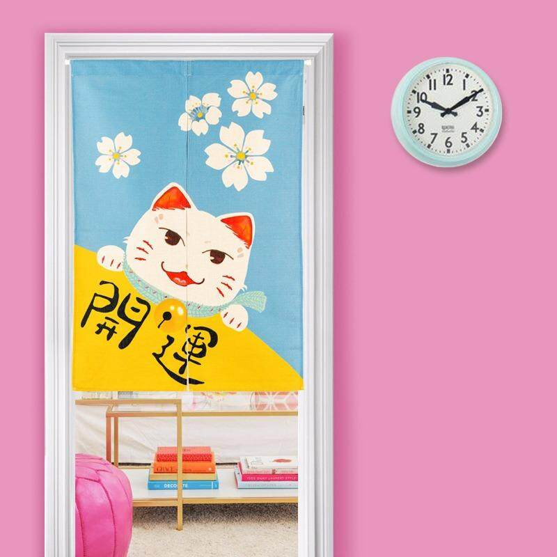 Japanese Style Home Decor Curtains Bedroom Living Room Curtain Japanese Style Curtain Door Hallway Restaurant Curtain Noren Entrance Curtain 33.5*35.4inches(Cat-2) - intl